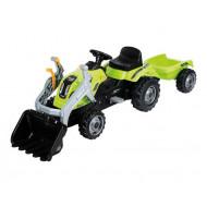 Smoby Farmer Max Green Tractor Μπουλντόζα Με Τρέιλερ 710109