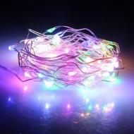 50L λαμπάκια LED μπαταρίας Copper πολύχρωμο 5.00m