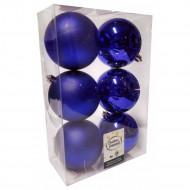 Χριστουγεννιάτικες Μπάλες Μπλε - Σετ 6 τεμ. (8cm)