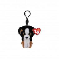 Χνουδωτό Κλιπ Σκύλος Άσπρος/Καφέ Roscoe The Dog 8.5 Εκ. 1607-35239