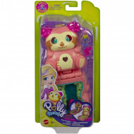 Mattel Polly Pocket Mini Σετάκια Flip And Reveal Tropical Sloth Βραδύποδας GTM56