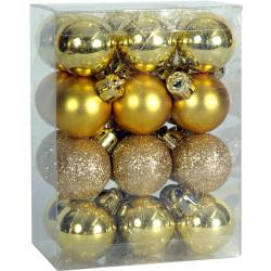 Χριστουγεννιάτικη Μπάλα 2,5 εκ Set 24 τμχ ΧΡΥΣΗ (04.B-2524-G)