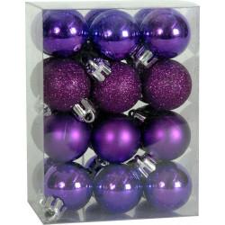 Χριστουγεννιάτικη Μπάλα 2,5 εκ Set 24 τμχ ΜΩΒ (04.B-2524-PUR)