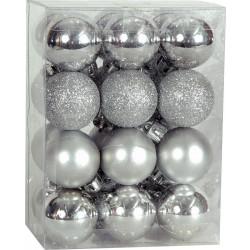 Χριστουγεννιάτικη Μπάλα 2,5 εκ Set 24 τμχ ΑΣΗΜΙ (04.B-2524-S)