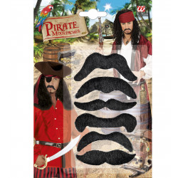 """Set of 6 PIRATE MOUSTACHES"""