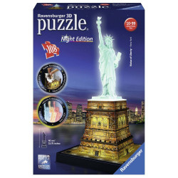 3D Puzzle Night edition 108 pcs Statue of Liberty (12596)