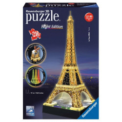 3D Puzzle Night edition 216 pcs Eiffel Tower (12579)