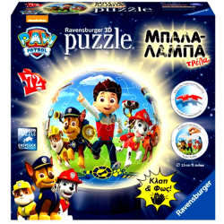 3D Puzzle Night Light 72 pcs Paw Patrol (12187)
