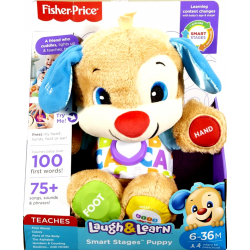 Fisher Price Laugh & Learn Εκπαιδευτικό Σκυλάκι Smart Stages ΜΠΛΕ (FPN78)