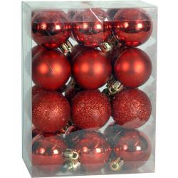 Χριστουγεννιάτικη Μπάλα 2,5 εκ Set 24 τμχ ΚΟΚΚΙΝΟ (04.B-2524-R)